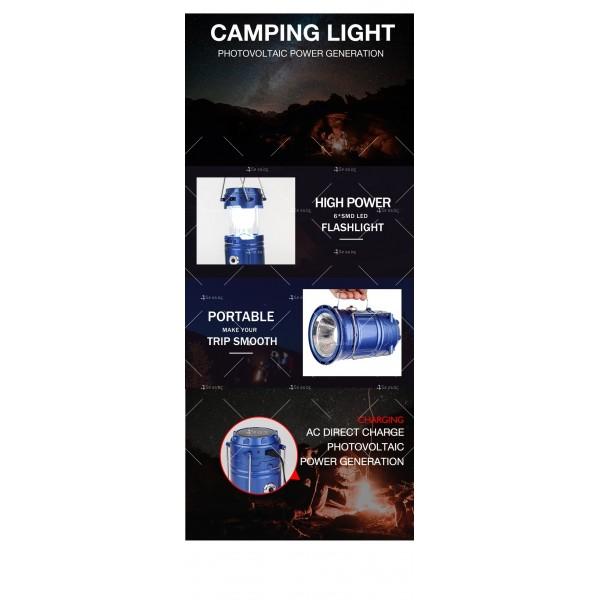 Соларен светодиоден фенер за къмпинг CAMP LAMP 8 8