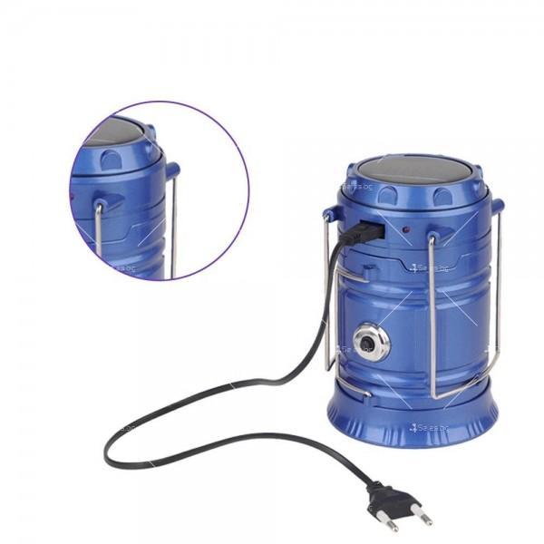 Соларен светодиоден фенер за къмпинг CAMP LAMP 8 10