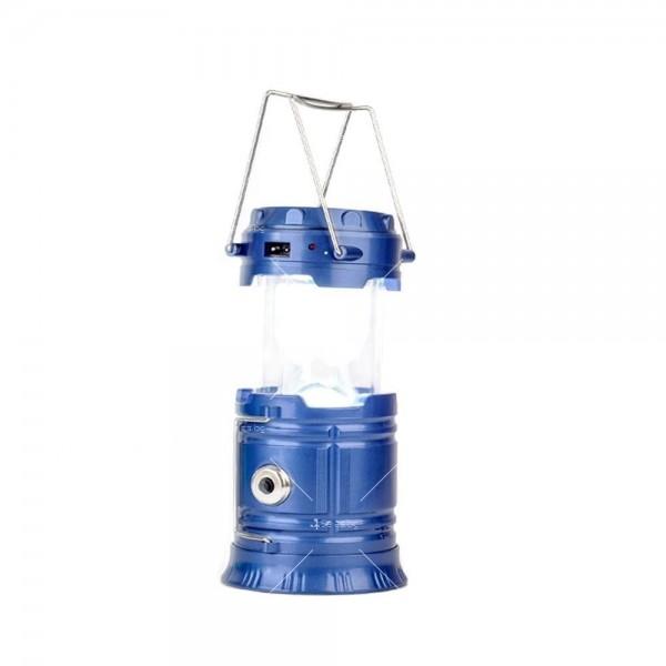 Соларен светодиоден фенер за къмпинг CAMP LAMP 8 12