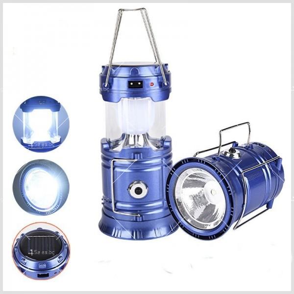 Соларен светодиоден фенер за къмпинг CAMP LAMP 8