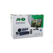 Система за видео наблюдение AHD, пълен комплект с 4 камери