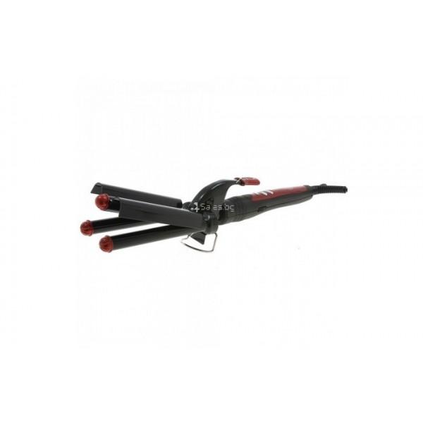 Преса за коса Zephyr Z-1102-MK ретро, керамична, 55W, Черна TV489 3