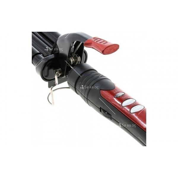 Преса за коса Zephyr Z-1102-MK ретро, керамична, 55W, Черна TV489 4