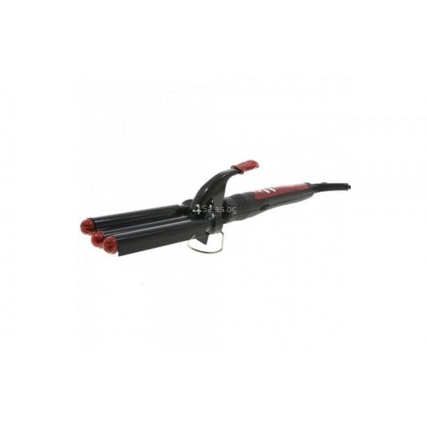 Преса за коса Zephyr Z-1102-MK ретро, керамична, 55W, Черна TV489 5