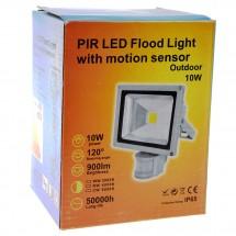 Лед прожектор с PIR датчик 10W, 20W, 30W или 50W клас на защита IP65