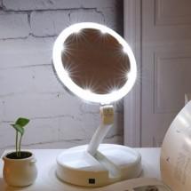 Настолно козметично огледало с LED осветление My Foldaway Mirror