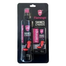 Комплект от гъба и мляко за табло на автомобила Flamingo Shines & Protects 295 мл
