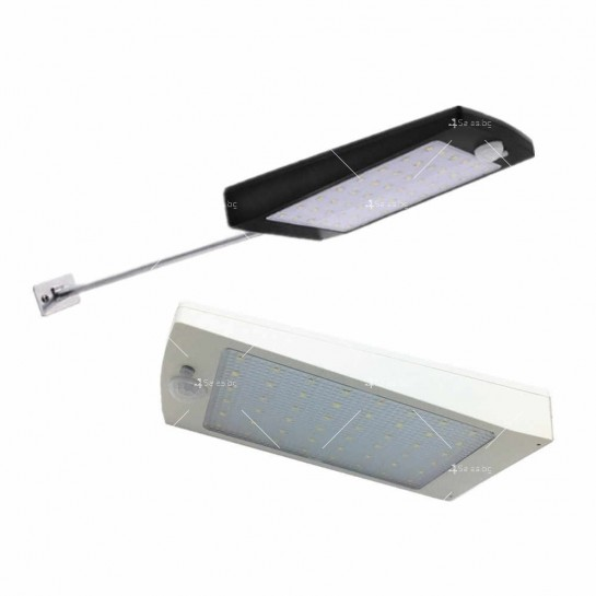 Мощна водоустойчива LED лампа с вграден соларен панел H LED24