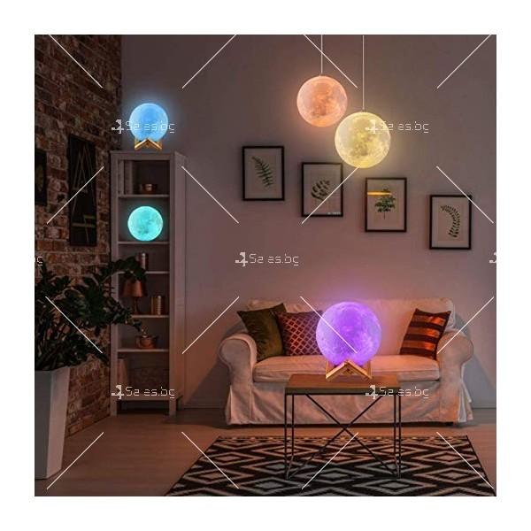LED 3D лампа-луна с дистанционно управление TV848 6