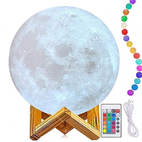 LED 3D лампа-луна с дистанционно управление TV848 7