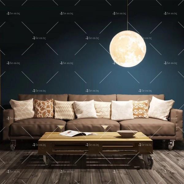 LED 3D лампа-луна с дистанционно управление TV848 9
