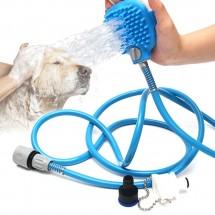 Накрайник за кучешки душ с ръкохватка за масаж и премахване на косми TV558