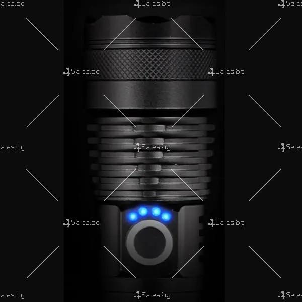 Ултрамощен LED фенер с индикация за нивото на батерията FL81 9