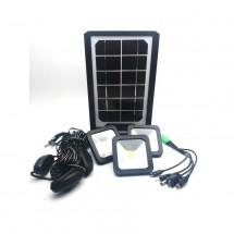 Соларна батерия Power bank с три LED крушки и мултифункционален кабел