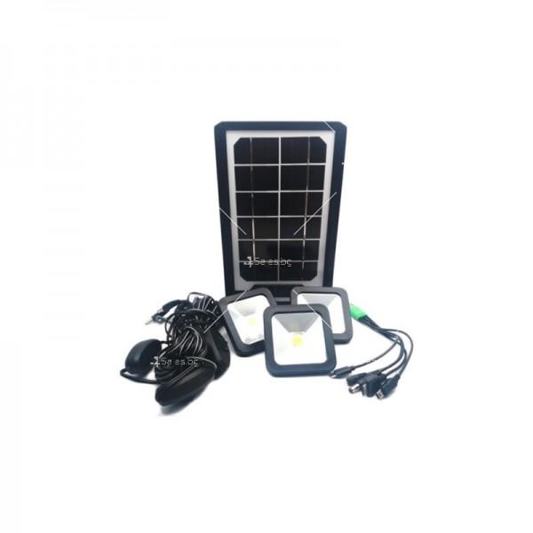 Соларна батерия Power bank с три LED крушки и мултифункционален кабел 4