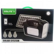 Соларна система GD3 с три LED крушки и мултифункционален кабел