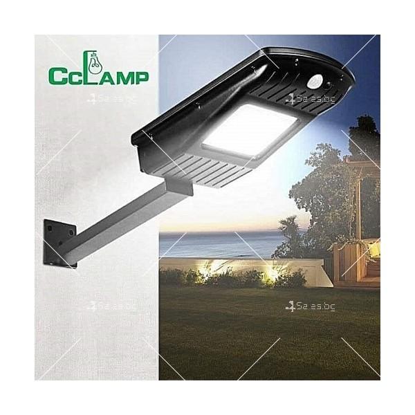 Соларна водоустойчива LED лампа за открито 30W 3