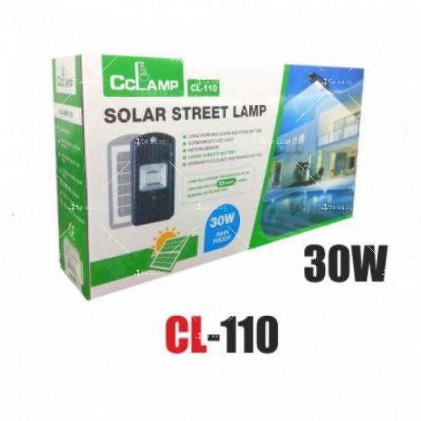 Соларна водоустойчива LED лампа за открито 30W 7