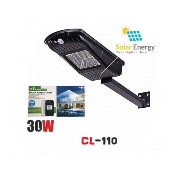 Соларна водоустойчива LED лампа за открито 30W 9