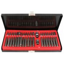 Професионален комплект с накрайници за винтоверт от 41 части оформен в куфарче