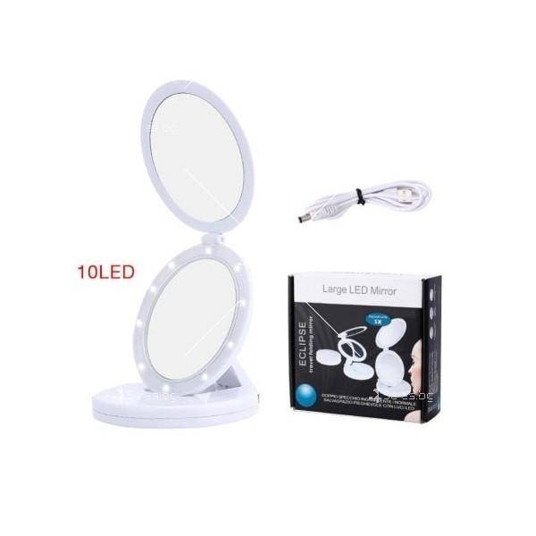 Двойно сгъваемо огледало с LED осветление подходящо за пътуване TV526 2
