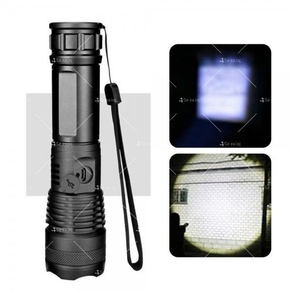 Ултрамощен LED фенер с индикация за нивото на батерията FL81 3