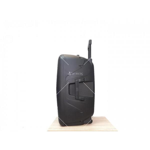 """Караоке тонколона OM&S 15"""" с акумулатор, микрофон, Bluetooth и светлини 3"""