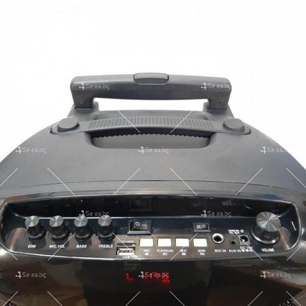 """Караоке тонколона OM&S 15"""" с акумулатор, микрофон, Bluetooth и светлини 6"""