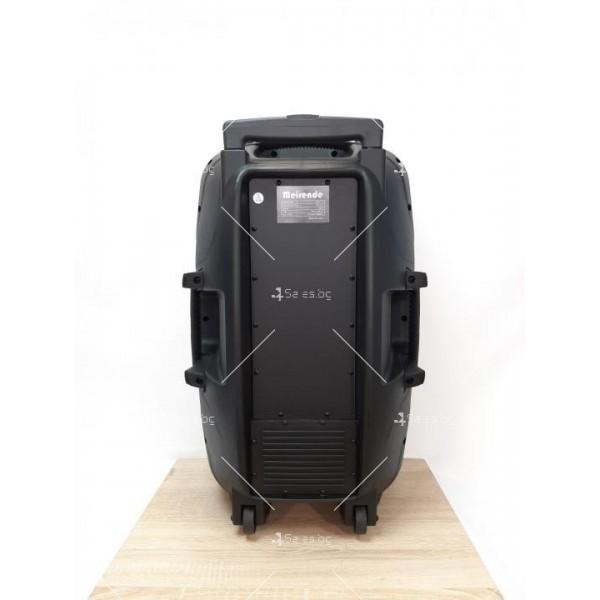 """Караоке тонколона OM&S 15"""" с акумулатор, микрофон, Bluetooth и светлини 7"""