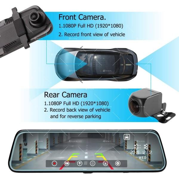 Видеорегистратор-огледало с камера за задно виждане модел V1 – AC85 10