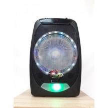 """Караоке тонколона OM&S 15"""" с акумулатор, микрофон, Bluetooth и светлини"""