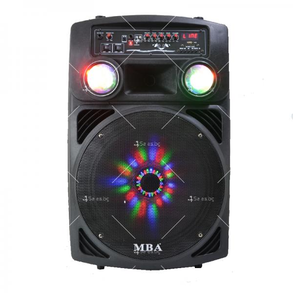 Караоке тонколона 15 инча с два безжични микрофона и диско светлини MBA F15L 2