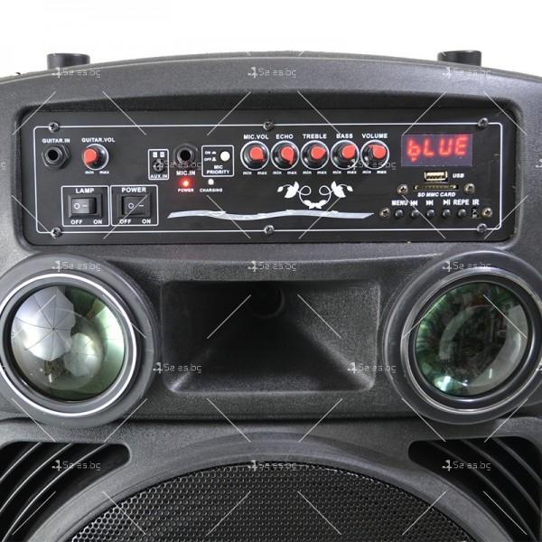 Караоке тонколона 15 инча с два безжични микрофона и диско светлини MBA F15L 3