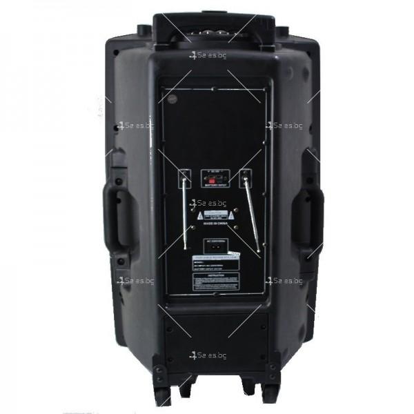 Караоке тонколона 15 инча с два безжични микрофона и диско светлини MBA F15L 4