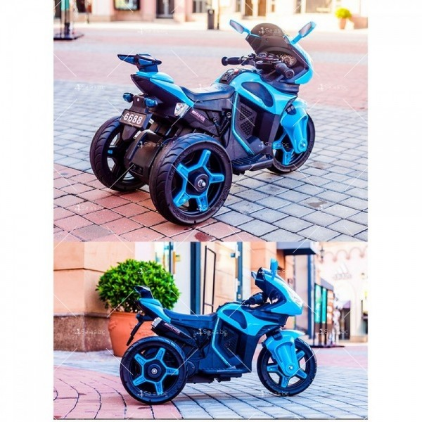 Акумулаторен мотор Shadow 12V с меки гуми и кожена седалка 9
