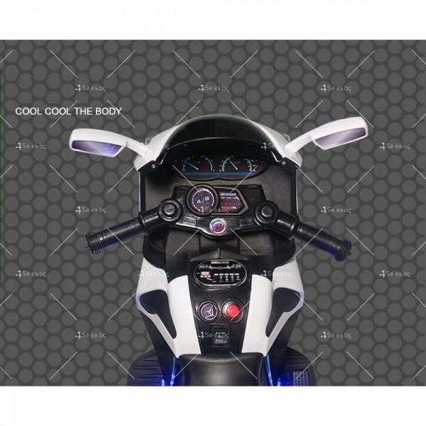 Акумулаторен мотор Shadow 12V с меки гуми и кожена седалка 10