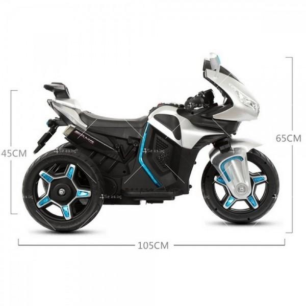 Акумулаторен мотор Shadow 12V с меки гуми и кожена седалка 13
