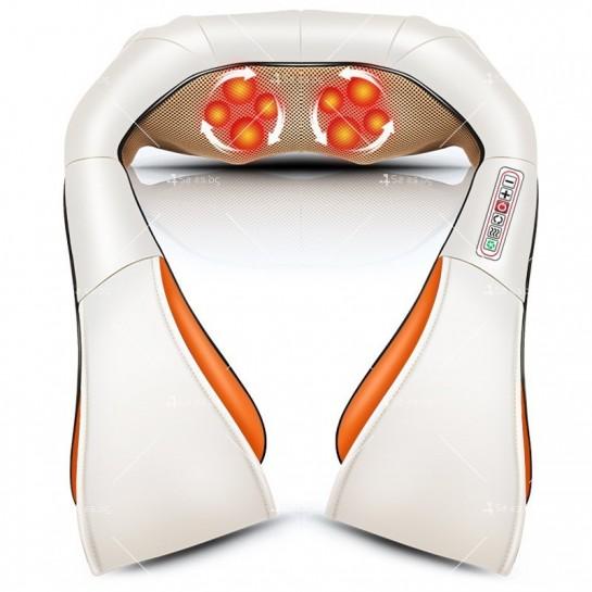 Шиацу 4D масажор за врат, гръб, плешки и рамене с функция затопляне TV95
