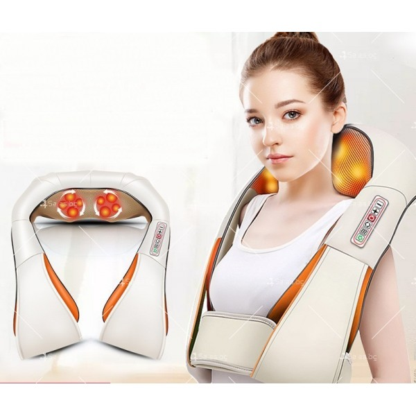 Шиацу 4D масажор за врат, гръб, плешки и рамене с функция затопляне TV95 2