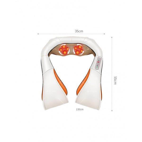 Шиацу 4D масажор за врат, гръб, плешки и рамене с функция затопляне TV95 4