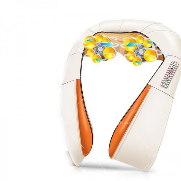 Шиацу 4D масажор за врат, гръб, плешки и рамене с функция затопляне TV95 6