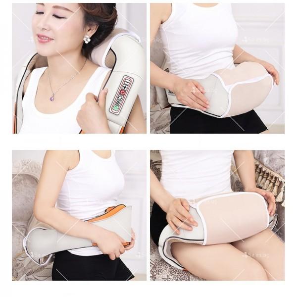 Шиацу 4D масажор за врат, гръб, плешки и рамене с функция затопляне TV95 7