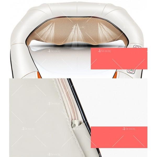Шиацу 4D масажор за врат, гръб, плешки и рамене с функция затопляне TV95 9