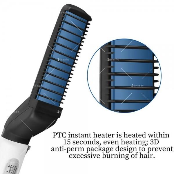 Електрическа четка с керамична плоча за изправяне на коса и брада TV538 4