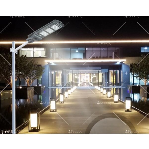 Икономично соларно улично LED осветление със сензор за движение H LED18 8