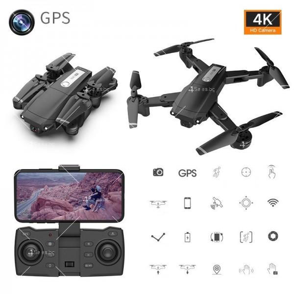 Мини сгъваем дрон 5G радиоуправляем режим и 4K HD камера-DRON H8 (5G+GPS+4K+BAG) 2