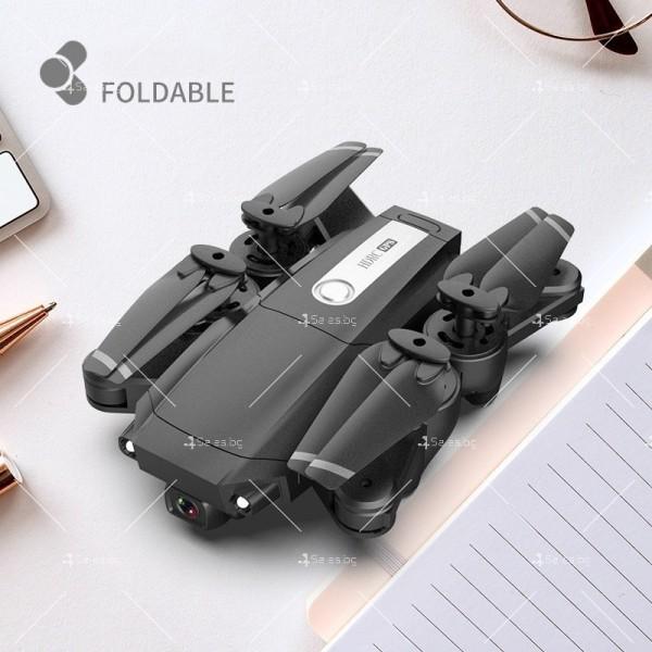 Мини сгъваем дрон 5G радиоуправляем режим и 4K HD камера-DRON H8 (5G+GPS+4K+BAG) 3