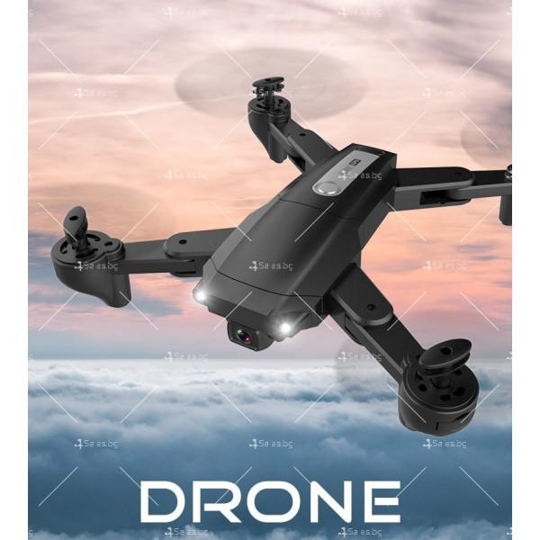 Мини сгъваем дрон 5G радиоуправляем режим и 4K HD камера-DRON H8 (5G+GPS+4K+BAG) 6
