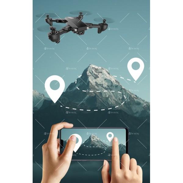 Мини сгъваем дрон 5G радиоуправляем режим и 4K HD камера-DRON H8 (5G+GPS+4K+BAG) 9