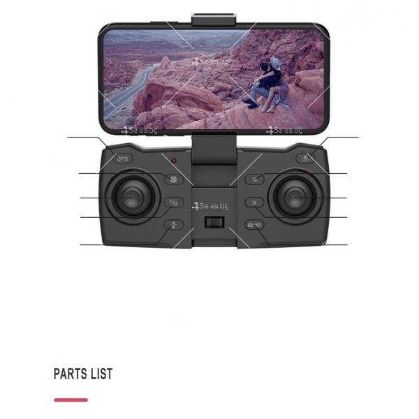Мини сгъваем дрон 5G радиоуправляем режим и 4K HD камера-DRON H8 (5G+GPS+4K+BAG) 11